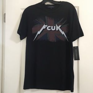 "NWT French Connection ""Fcuk"" t- shirt Size S"